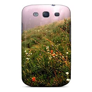 First-class Case Cover For Galaxy S3 Dual Protection Cover Forest Fog