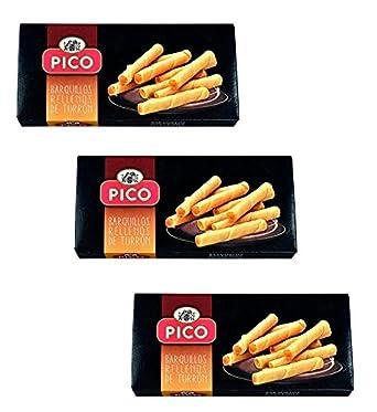 Picó - Pack incluye 3 Barquillos Rellenos de Turrón - 75 gr: Amazon.es: Alimentación y bebidas