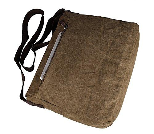 Genda 2Archer Lona bolso mensajero bolsa para hombre bolso de escuela (café) café