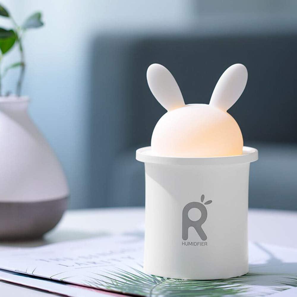 UFACE Meng Conejo LED humidificador difusor de Aire purificador atomizador casa silenciosa Aire Dormitorio ...