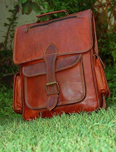 handmadecraft Vintage Borsa in pelle fatto a mano stile vintage zaino/Collegio Borsa