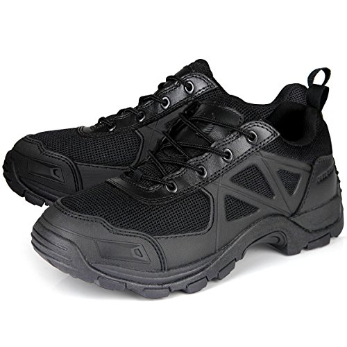 Running Shoe - FREE SOLDIER Athletic Breathable Sneakers Air Mesh Lining Mid Hiking Boots Black