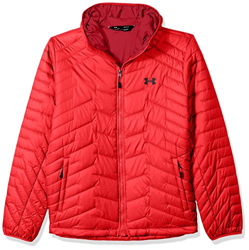 Under Armour Outerwear Men's Cold Gear Reactor Hooded Jacket, Red/Black, Large ()