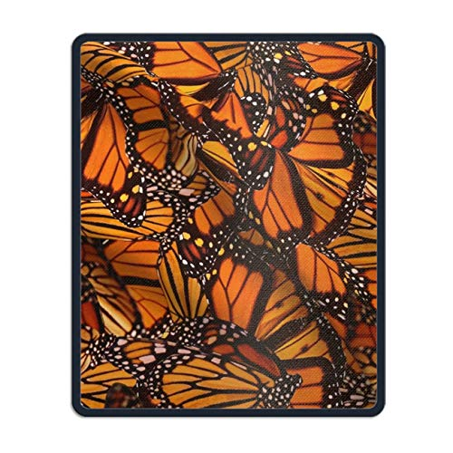 Mouse Pad Orange Monarch Butterflies Mousepad Non Slip Rubber Mouse Pad Gaming Mouse Pad mat