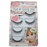 GreatFun 5 Pairs Fashion Natural Handmade Long False Eyelashes Beauty Makeup