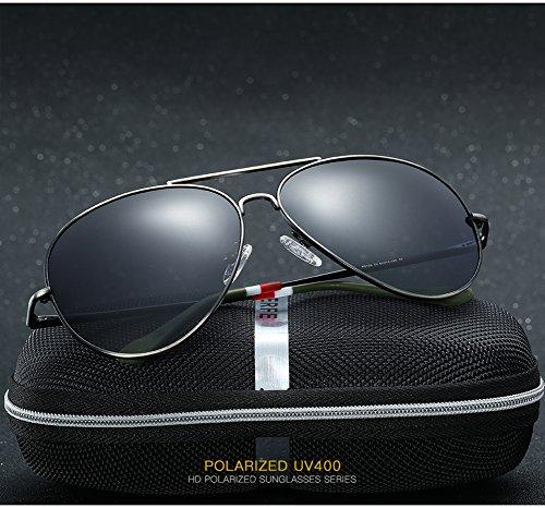 UV Polarizadas Sol C4 Mujer Aviator Hombre De 400 Gafas C2 Protección para para zaZ1pax