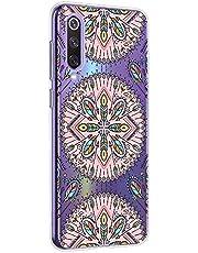 Oihxse Mandala Flores Encaje Patrón Serie Case Compatible con Huawei Y6 2019/Y6 Prime 2019 Funda TPU Silicona Suave Protector Ultra Slim Anti-Rasguño Transparente Carcasa (A3)