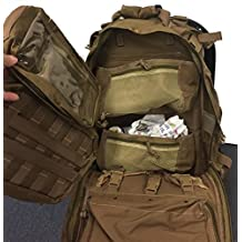 First aid Survival Kit Emergency Kit Earthquake Survival S.T.O.M.P kit Trauma Bag for Car Home Work Office Boat Camping Hiking Elite Travel or Adventures Stomp All-purpose not BLACKHAWK