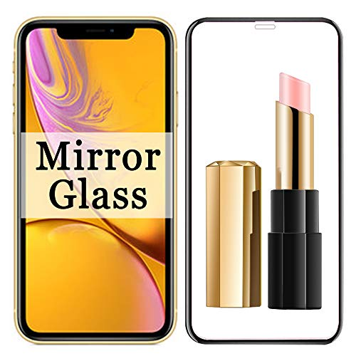 XR Screen Protector 【 Mirror Effect 】 Compatible with Apple iPhone XPhone X R IP Tempered Glass Protective Film (2018) [ 3D Curved ] [ 9H Hardness ] iPhonexr I Phone 10R iPxr Rx 10XR 10 R 6.1 inch