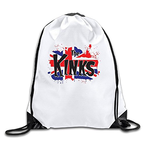 Price comparison product image The Kinks Kinky Boots Flag White Drawstring Backpack Sport Bag For Men & Women