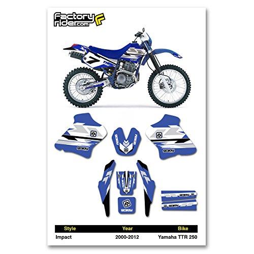 2000-2012 YAMAHA TTR 250 Dirt Bike Graphics kit Impact Decal by Enjoy MFG