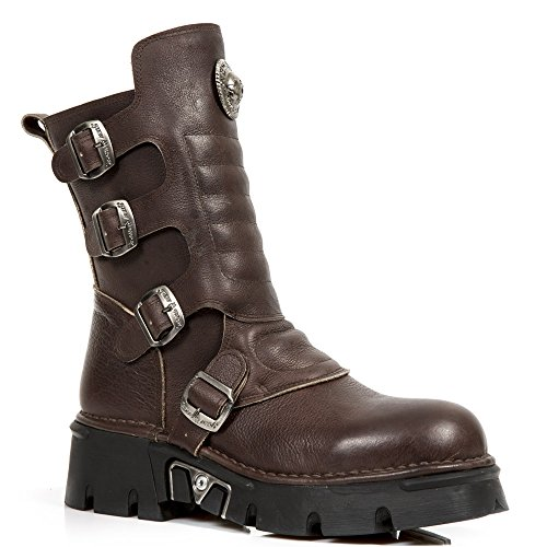 Size R4 New 44 Brown Rock Women 1471 Men M Retro Leather Men Metallic waaPxqXrA