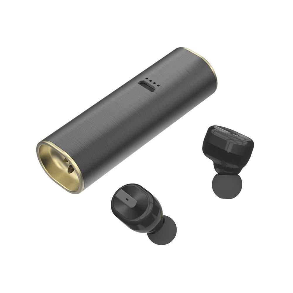 True Wireless Earbuds, LEELVIS Mini Noise Cancelling In-ear Bluetooth Headphone, Sweat-proof Earphone with Microphone S3 – Black
