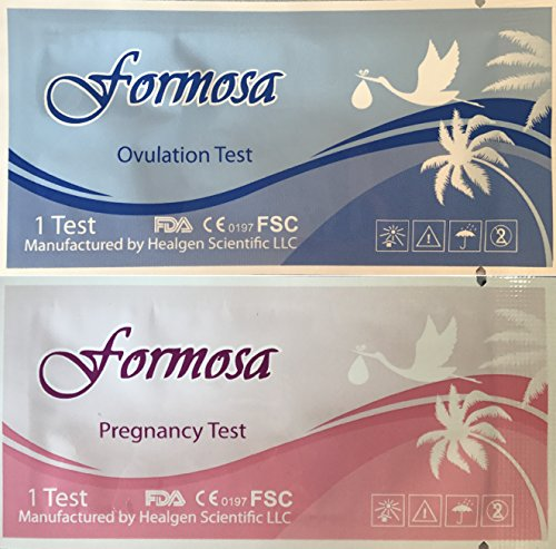 Formosa Medical 50 LH Ovulation Tests and 20 HCG Pregnancy Tests Combo Pack (Best Ovulation Test 2019)