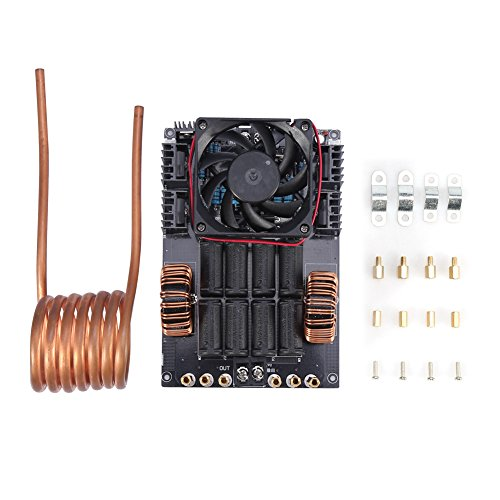 DC 12V-24V 1000W 50 A ZVS Low Voltage High Frequency Induction Heating Module Board with Tesla Coil and Cooling Fan