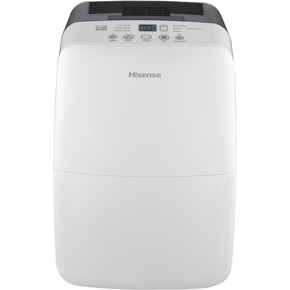 Hisense DH-50K1SDLE Energy Star 2-Speed Dehumidifier, 50-Pint