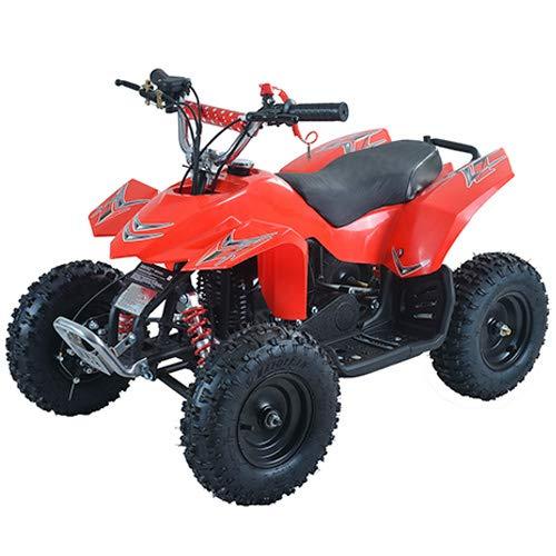 X-Pro 40cc Kids ATV 4 Wheelers Quads ATV Quads Gloves, Goggle and Handgrip (Red)