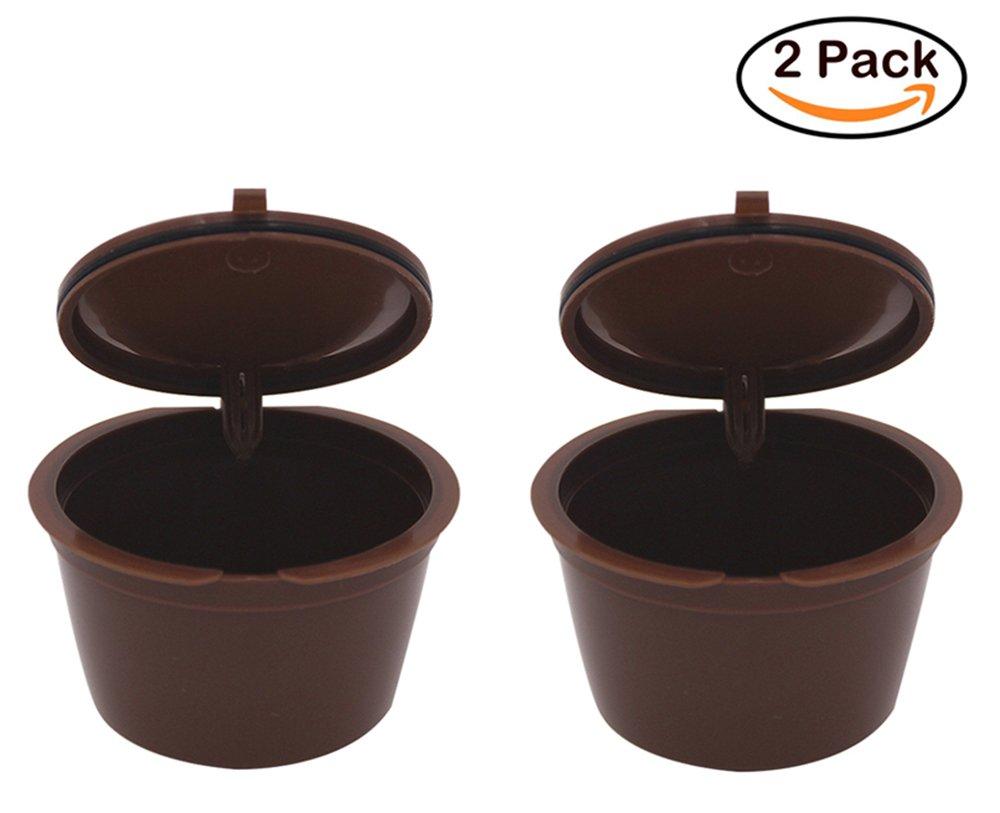 fengfang 2pcs recargable reutilizable cápsulas de café de repuesto ...