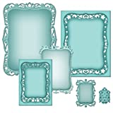 Spellbinders Nestabilities Scrapbooking Template, Majestic Labels Eight-S5-208