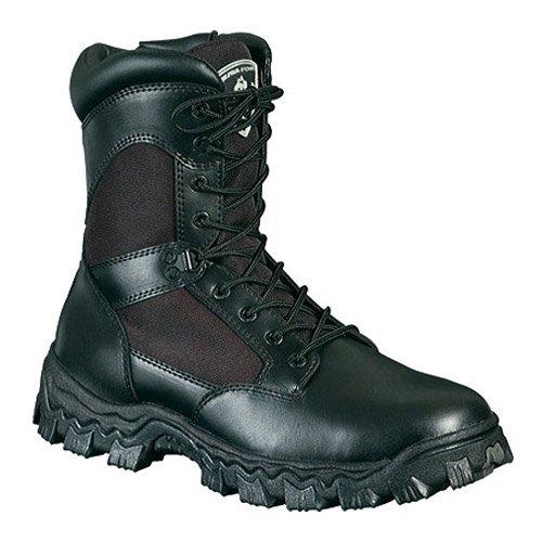Work Rocky Waterproof Women's 8 Black W AlphaForce Boot 6qrtxz4qw