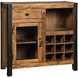Signature Design by Ashley Glosco Warm Brown Wine Cabinet