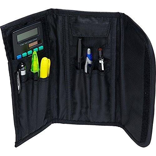 Case-it The 3 Fold Velcro Pencil Case, Black, PLP-04-BLK