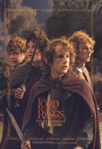 amazon com lord of the rings 1 the fellowship of the ring poster