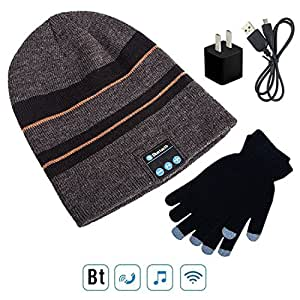wireless bluetooth 4 1 beanie hat cap with. Black Bedroom Furniture Sets. Home Design Ideas