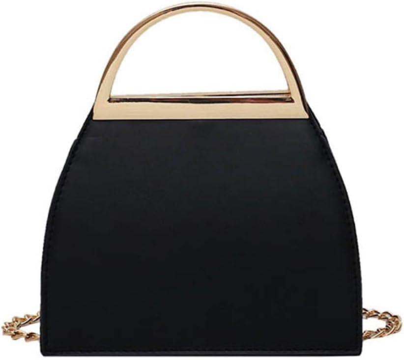 ABO - Bolsa de mensajero para mujer, diseño de concha de piel sintética, color beige Negro