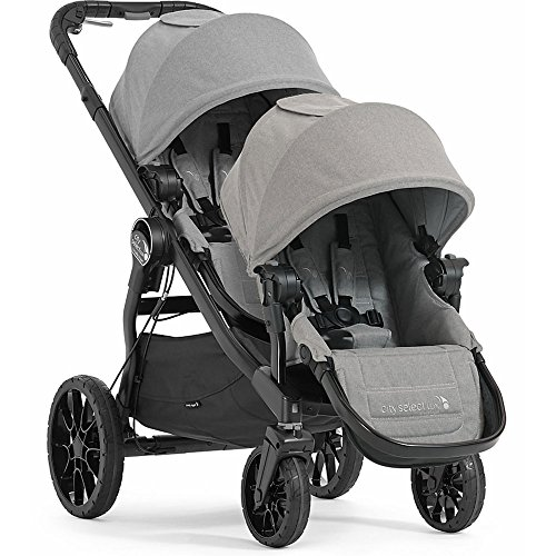 Baby Jogger City Select Lux with Second Seat Double Stroller – Slate