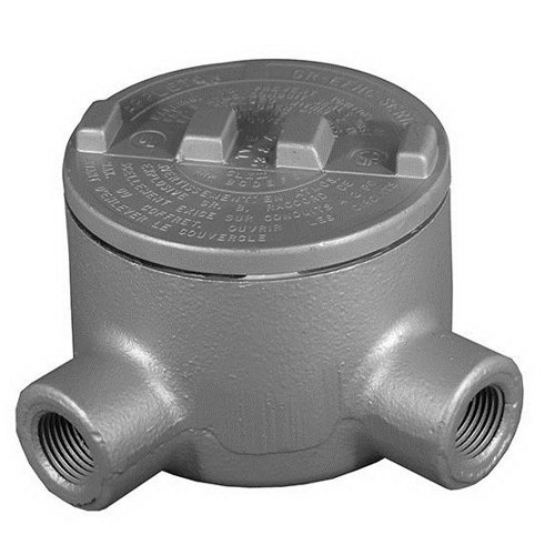 Appleton GRL50-A Conduit Outlet Box, Hazardous Location, Style L, Aluminum, 1/2'' Hub