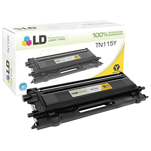 LD Remanufactured Toner Cartridge Replacement for Brother TN115Y High Yield (Yellow)