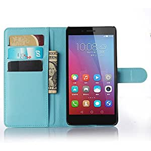 Huawei Honor 5X Case, Ultra Slim Stand Flip Wallet Case with Built-in Card Slots, Vikoo Premium PU Leather Wallet Cover Case for Huawei Honor 5X Smartphone(Blue)