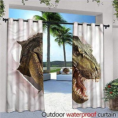 Warm Family Dinosaur - Cortina de privacidad para Exteriores de pérgola y Garras peligrosas, Aislante térmico, Repelente al Agua, para balcón: Amazon.es: Jardín