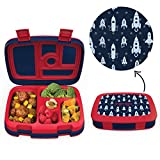 Bentgo Kids Prints (Space Rockets) - Leak-Proof, 5-Compartment Bento-Style Kids Lunch Box