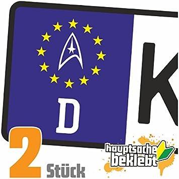 Sternenflotte Abzeichen Kennzeichen Aufkleber Sticker Nummernschild In 15 Farben Auto