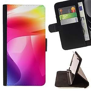 Momo Phone Case / Flip Funda de Cuero Case Cover - Color de los remolinos;;;;;;;; - HTC One Mini 2 M8 MINI