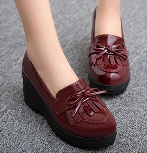 Pictures of Wedge Oxfords Shoes Women Girls Tassels Lolita 5