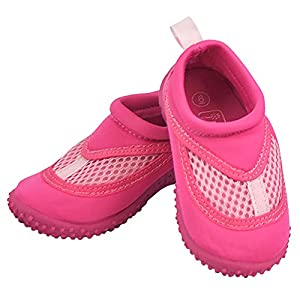 iplay Sand and Water Shoes For The Pool or Beach - Non-Slip Sole- Pink - Size 4