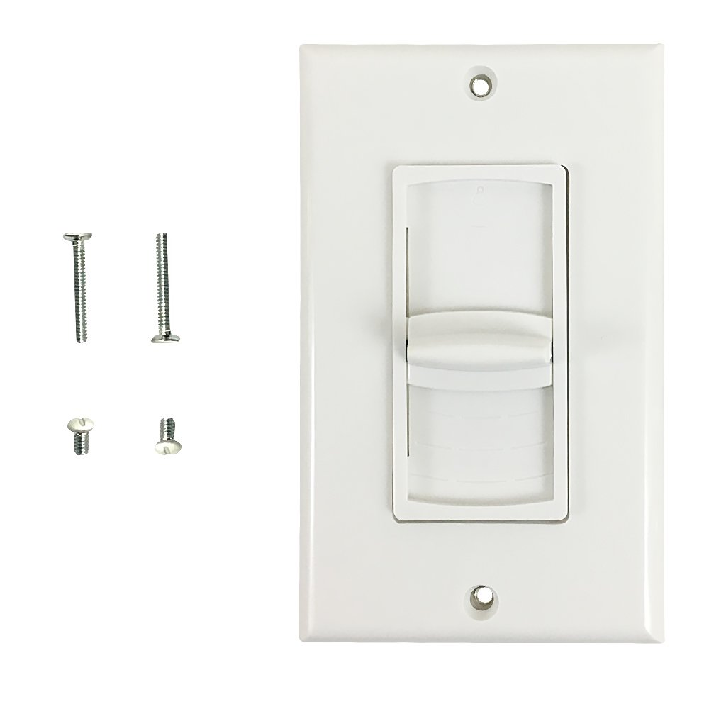 Volume Control Decora Wall Plate, 100W Impedance Matched Slider Infinite Cables WPK-VL2S-100W