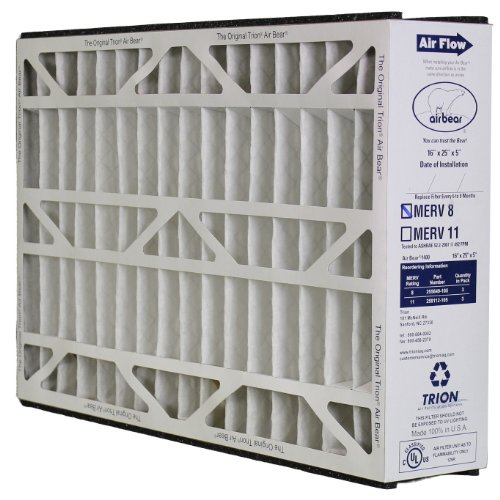 5 ? Pleated Filter (Trion Air Bear 255649-105 - Pleated Furnace Air Filter 16