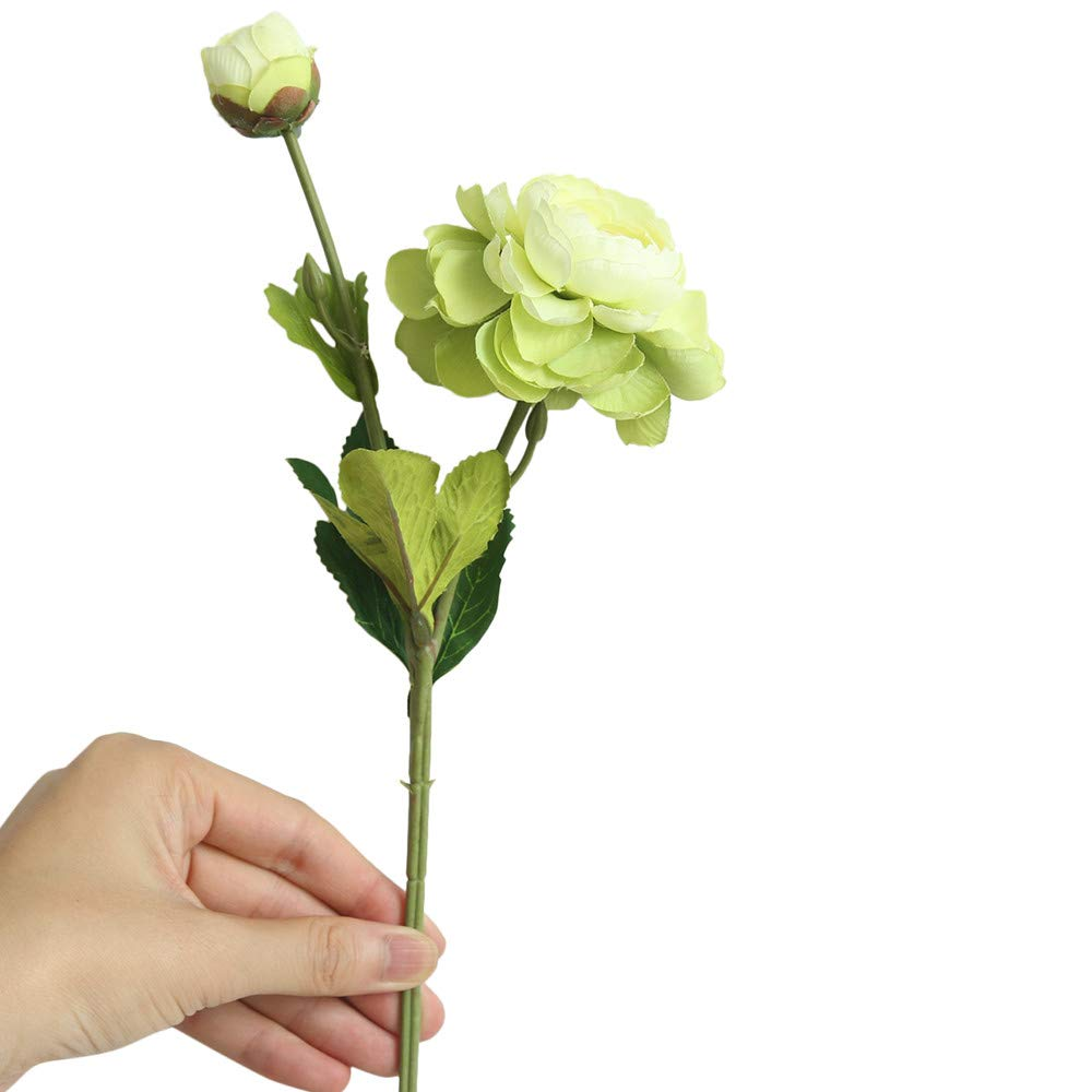 Artificial Flowers,Longay Artificial Fake Western Rose Flower Peony Bridal Bouquet Wedding Home Decor (Green)