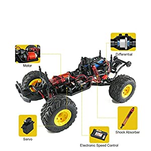RC Car,Rabing Terrain RC Cars, Electric Remote Control Off Road Monster Truck,1:12 Scale 2.4Ghz Radio 4WD Fast 25+ MPH RC Vehicles
