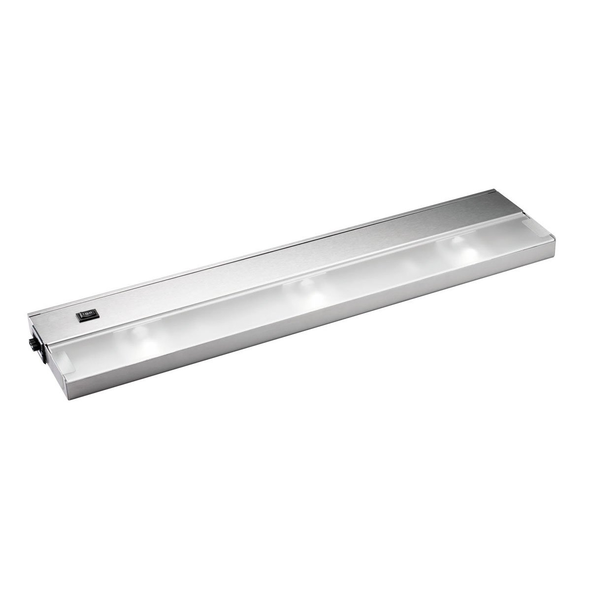 Kichler 12213SS TaskWork Modular 3LT 22IN 120V Xenon Undercabinet Light, Stainless Steel Finish with Frosted Glass Diffuser