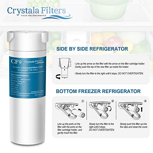 Crystala Filters Compatible with GE XWF Water Filter, Replacement for GE SmartWater Refrigerator Water Filter, (3 PACK) by Crystala Filters (Image #3)
