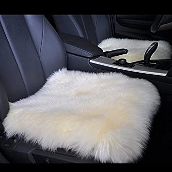 Set 2  Merino Wool Pad Mat Auto Chair Seat Covers Breathable Seat cover Cushion