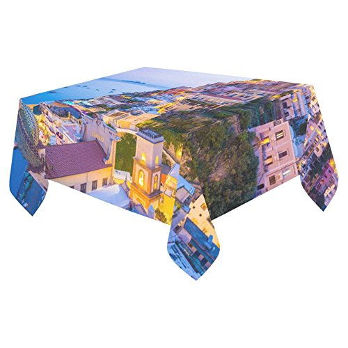 [JC-Dress Cotton Linen Tablecloth Positano Amalfi Coast Campania Sorrento Italy Tabletop Decoration 52x70] (Italy Cotton Dress)