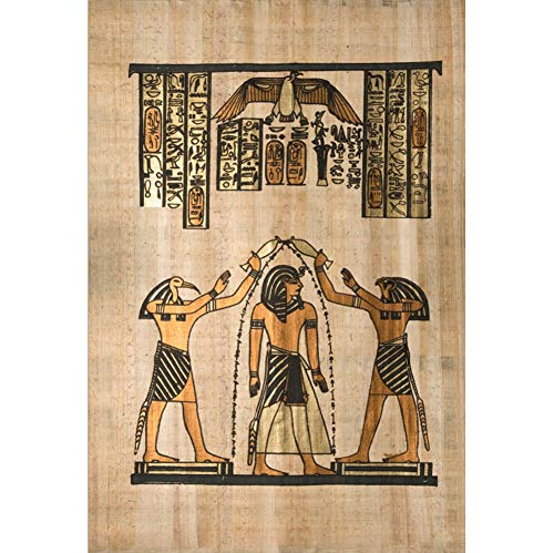 (Yeele 6x9ft Old Egypt Mural Backdrop for Photography Ancient Egyptian Papyrus Fresco Wall Painting Background Antique Hieroglyphs Photo Booth Shoot Vinyl Studio Props)