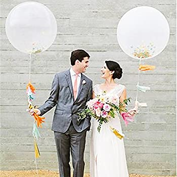 Amazon lings moment giant balloon flower vine wedding giant azowa 36 confetti jumbo giant latex balloons multicolor glitter dots filled balloons wedding supplies birthday decorations party decorative 6 pcs junglespirit Image collections