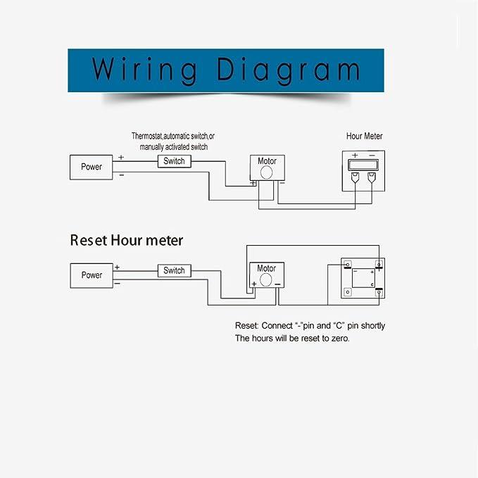 hour meter wiring diagram amazon com searon digital round hour meter 110v 120v 220v 230v ac hour meter wiring diagram round hour meter 110v 120v 220v 230v ac